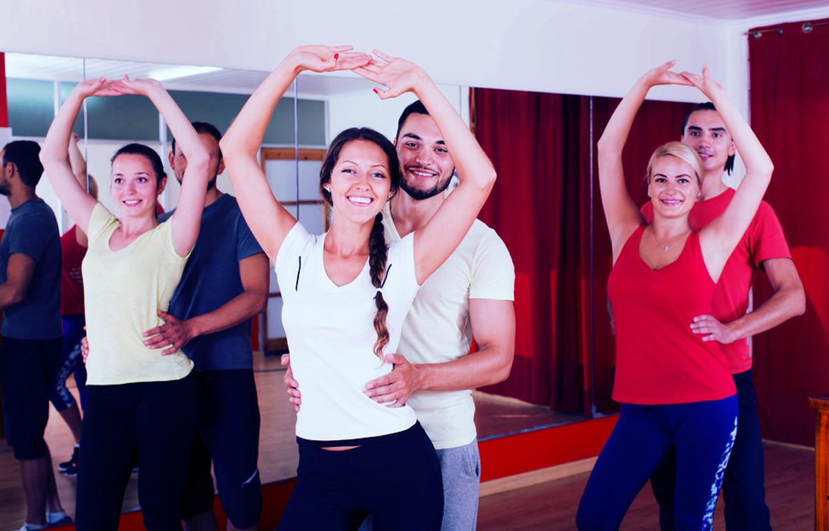 """""""Group of people dancing salsa in studio"""" von JackF @photodune envato"""